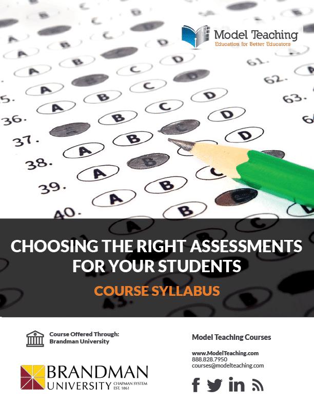 Syllabus-Choosing the Right Assessments-3 Credit-BU-Icon