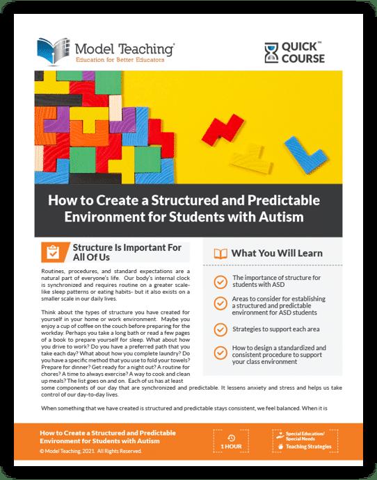 Structured Autism Quick Course-Icon