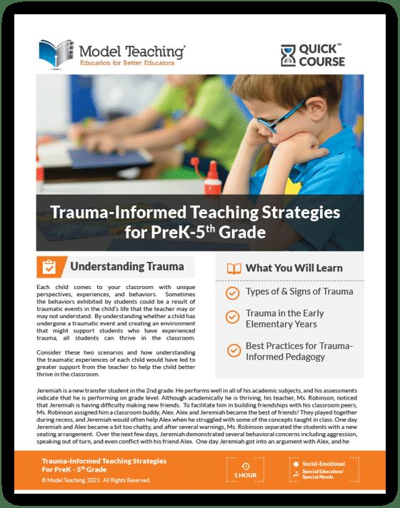 Trauma-Informed Teaching for PreK-5th-Icon