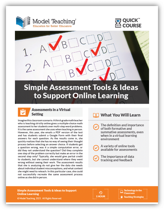 Assessment Tools Online Learning-Icon