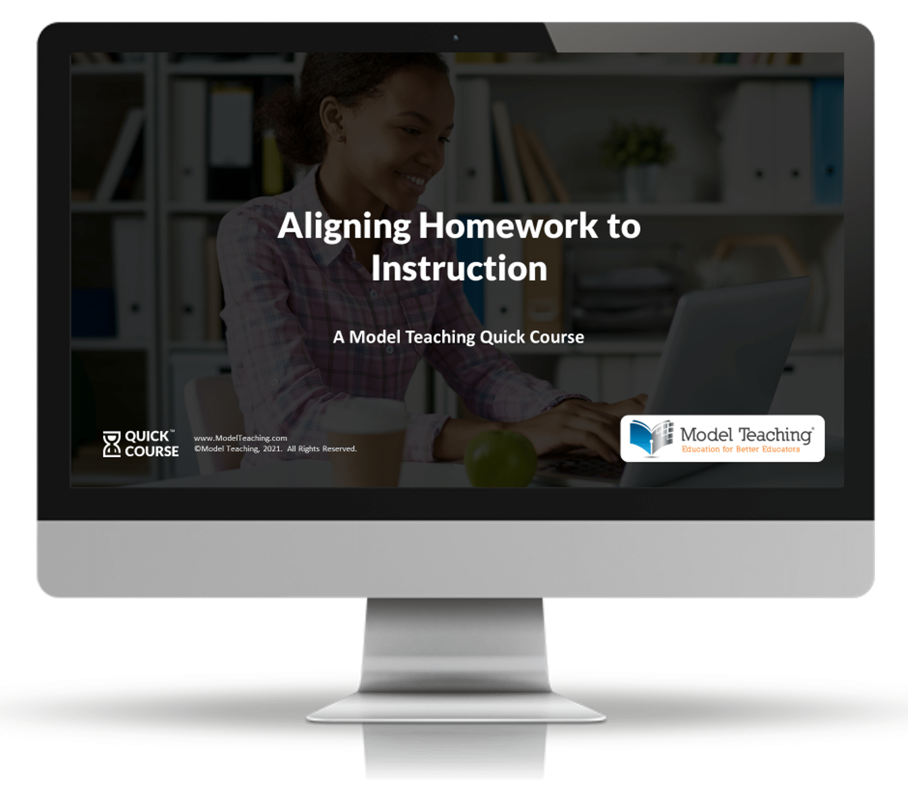 Aligning Homework Computer Icon